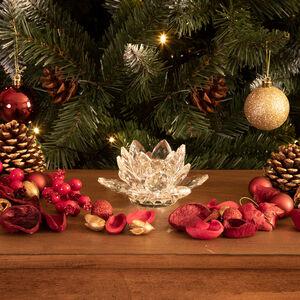 Cashel Living Crystal Lotus Flower Candle Holder