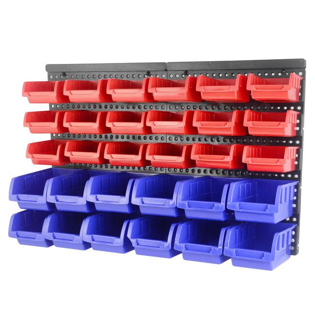 30 Bin Wall Mounted Storage Rack