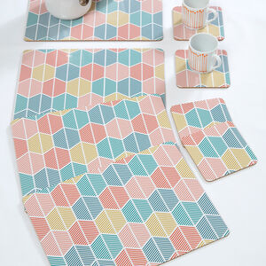 Griffen Mats & Coasters 4 Pack - Teal