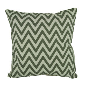 Embroidered Zigzag Cushion Silver 45cm x 45cm