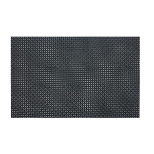Tabby Weave Black Placemat