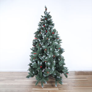 Deluxe Pine Cone & Berry Christmas Tree - 7ft