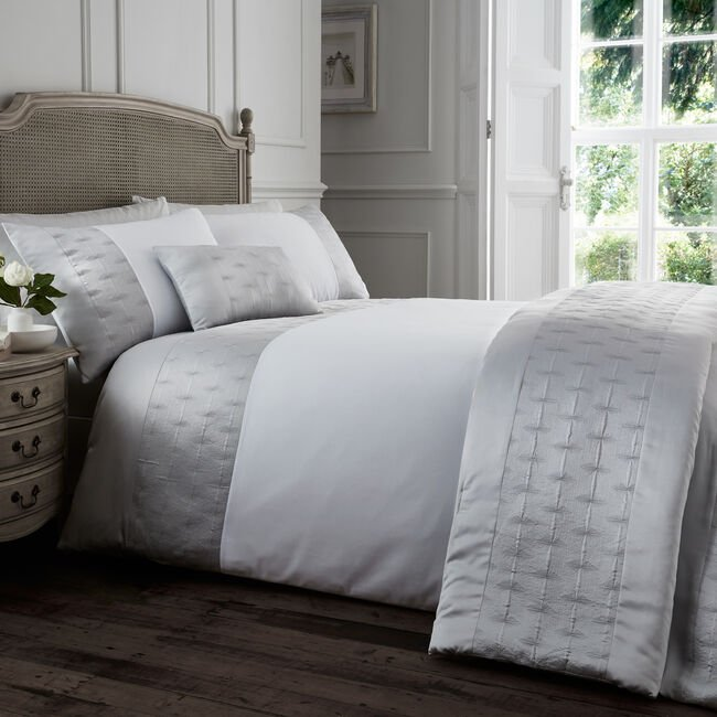 KING SIZE DUVET COVER Mairead Silver