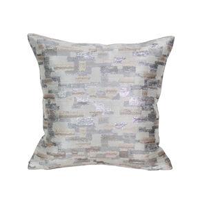 Shimmer Brick Cushion 43x43cm - Natural