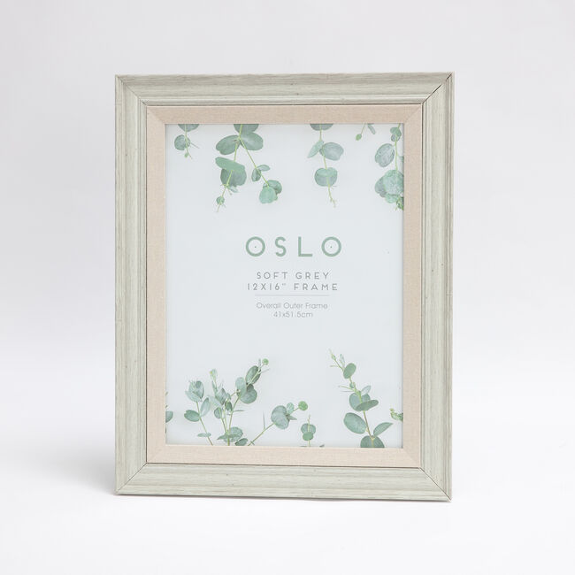 Oslo Soft Grey Photo Frame 12x16""