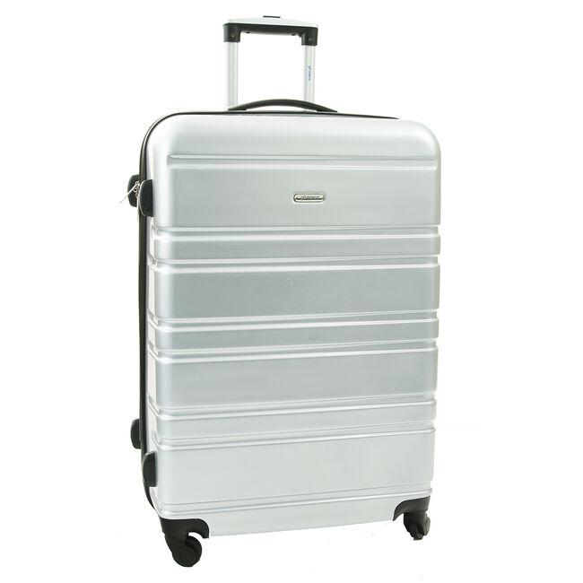 Large Silver Hardshell Suitcase