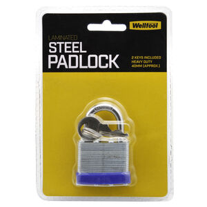 Laminated Steel Padlock 40mm