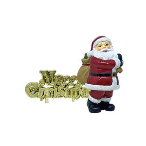 Traditional Santa & Merry Christmas Cake Toppers