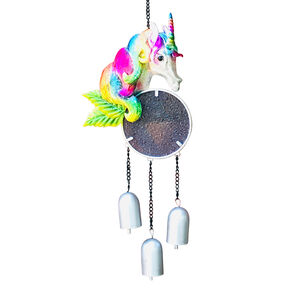 Stained Glass Unicorn Garden Wind Chime