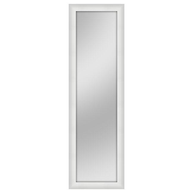 Over The Door Mirror White 30cm x 120cm