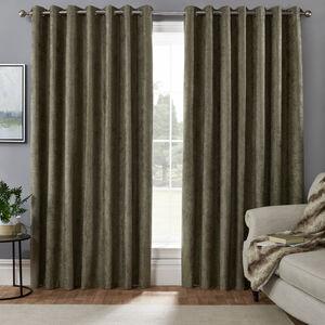 BLACKOUT & THERMAL HERRINGBONE GREEN 90x90 Curtain