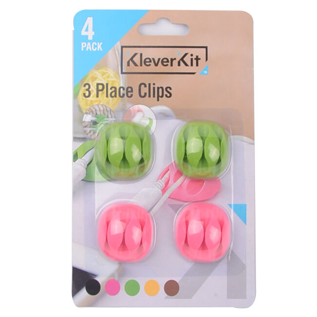 Kleverkit 3 Place Clips 4 Pack