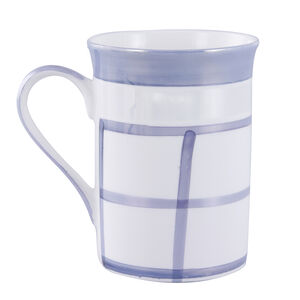 Lustre Check Bone China Mug