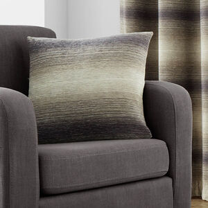 Ombre Stripe Grey/Brown Cushion 45cm x 45cm
