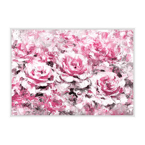 Rose Riot Print Framed Oil Finish