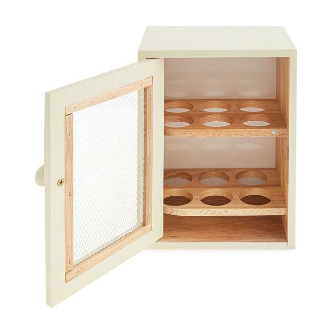 Apollo Rubberwood Egg Cabinet - Cream