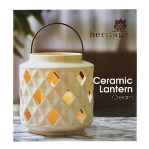 Heritage Cream Ceramic Lantern