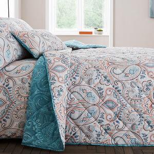 Avril Aqua Bedspread 200x220cm