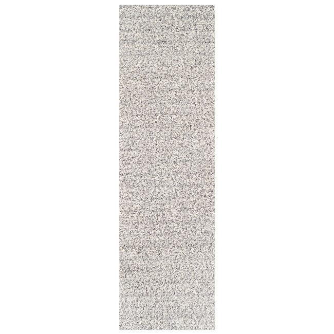 Elsa Shaggy Plain Runner - Grey/White
