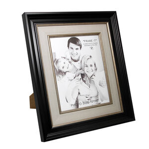 Black & Linen Slim Photo Frame 8x10""