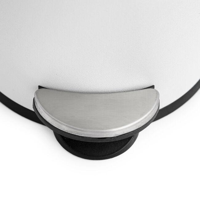White Sparkle Dome Lid Pedal Bin 3L