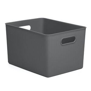 Stripe Storage Basket 23L - Grey