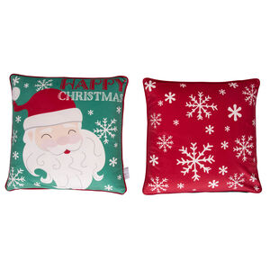 Jolly Santa Cushion Cover 45 x 45cm - 2 Pack