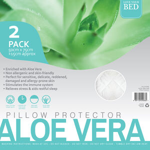 Aloe Vera Pillow Protector Pair