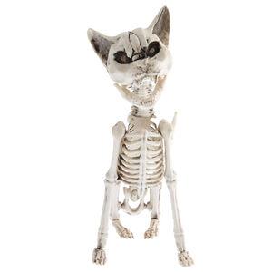 Light Up Screaming Skeleton Cat