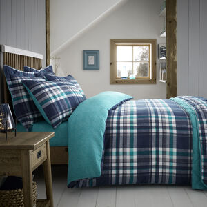 SINGLE DUVET COVER Brushed Cotton Thornton Check