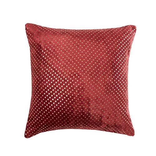 FOIL PRINT VELVET WINE 45x45 Cushion