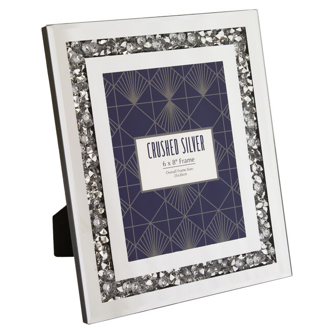 Crushed Silver Photo Frame 6x8""