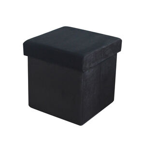 Deluxe Soft Folding Ottoman - Black