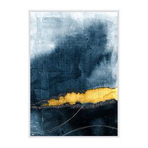 Cobalt Mood Print Framed Foil Finish