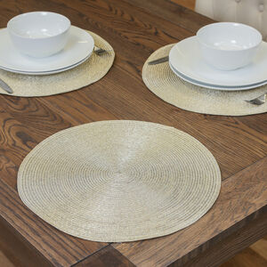 Round Shimmer Placemat - Gold