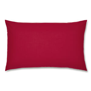 Luxury Percale Housewife Pillowcase Pair - Red