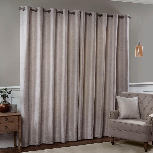 CHENILLE ZIG ZAG BISCUIT  66x72 Curtain