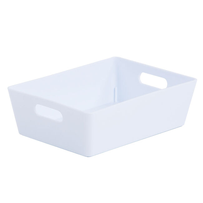 Studio 3.01 Rectangular Basket Ice White