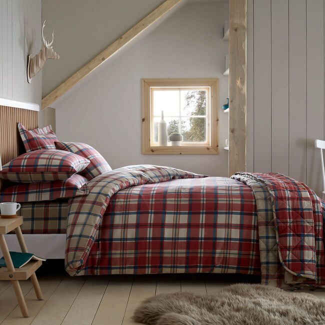 SINGLE DUVET COVER Brushed Cotton Fogarty Check