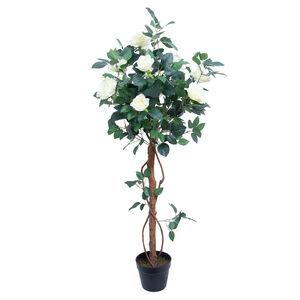 Artificial Rose Tree 1.2m - White