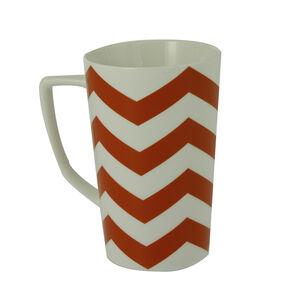 Arthur Wood Coral Chevron Mug