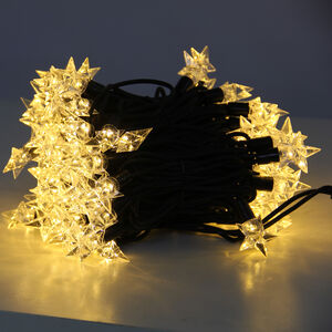 100 Warm White Connectable Star Lights