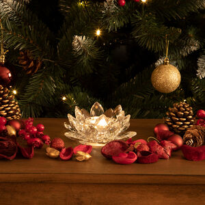 Cashel Living Crystal Lotus Flower Tealight Holder