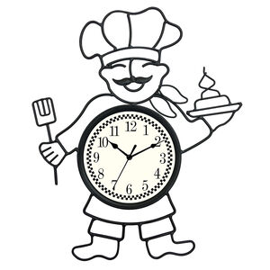 Chef Metal Wall Clock