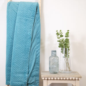 Triangle Stitch Throw 150x200cm - Teal