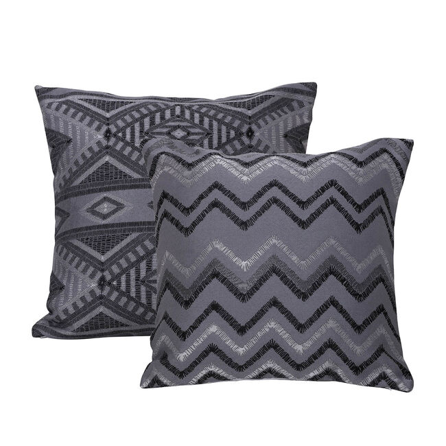 Tribal Cushion 58 x 58cm - Charcoal