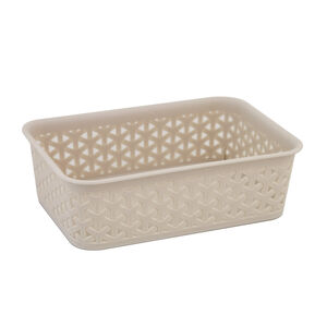 Geometric 1.5L Soft Grey Basket