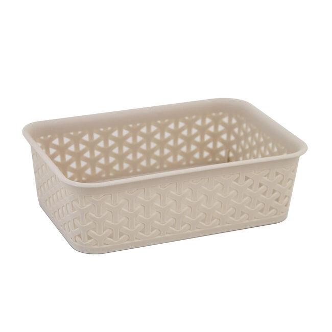 Geometric 1.5L Soft Grey Basket