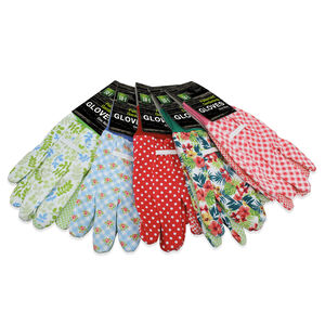 Patterned Cotton Gardening Gloves