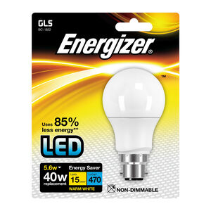 Energizer GLS B22 LED Bulb Opal 56W (EQ40W)
